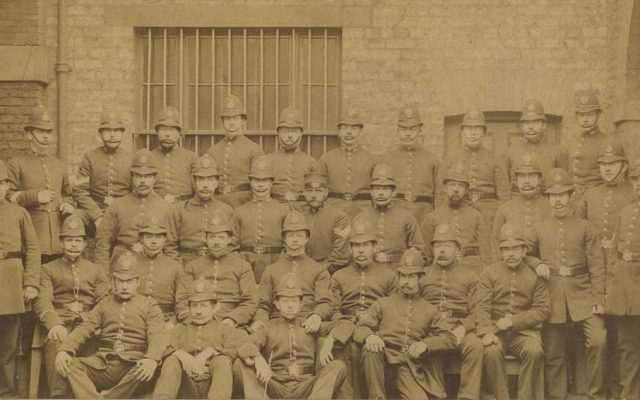 old photo of a police force