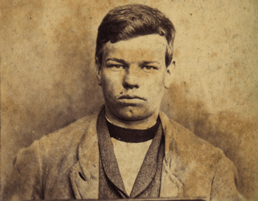 sepia photo of a young offender