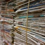 bundle of newspapers