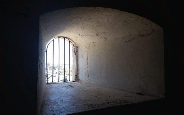 inside a dark cell