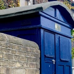 old blue police box